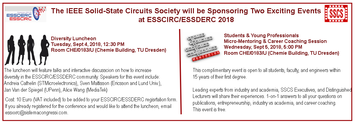 ESSCIRC 2018 YP and WiE Events