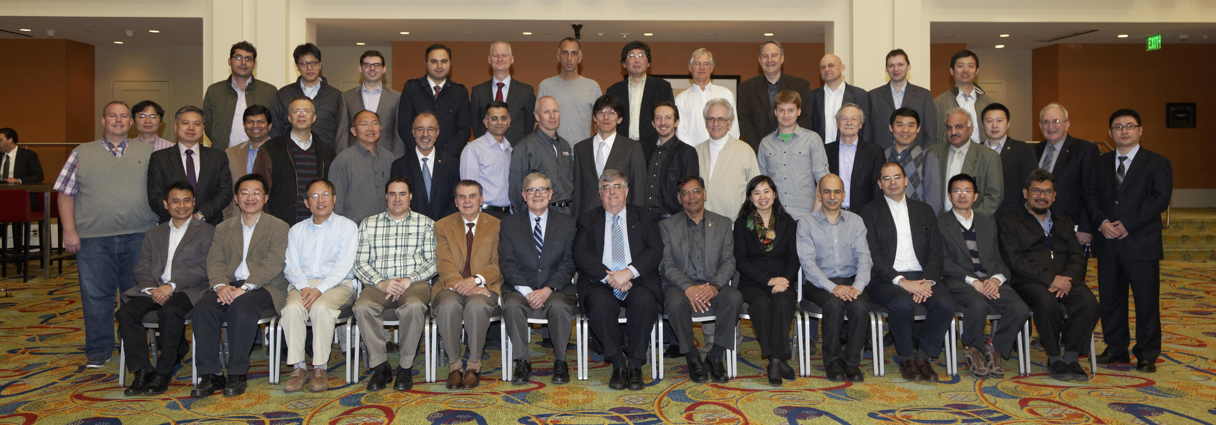 Chapter Representatives at the 2015 SSCS Chapter Chair Luncheon during ISSCC in February
